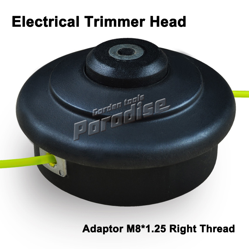 Electrical Nylon Trimmer Head Adaptor M8*1.25 Right Female Double Trimmer Line Bump and Go For Garden Use Grass Trimmer Head цена