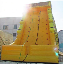 Outdoor /Indoor sports games Polygon children inflatable climbing wall for the mall