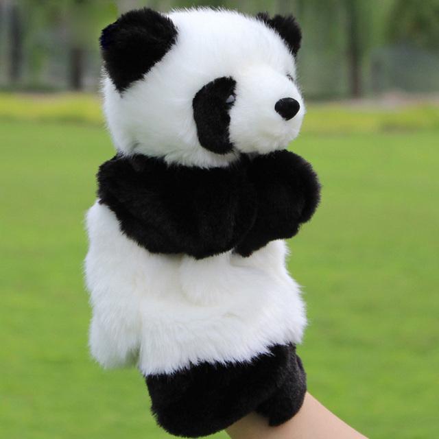 10 ''Nueva Simulación Linda Pandas Muñeca Marioneta de Peluche los Juguetes del bebé de Kawaii Panda Suave Anime Regalos de Cumpleaños Para Los Niños 01