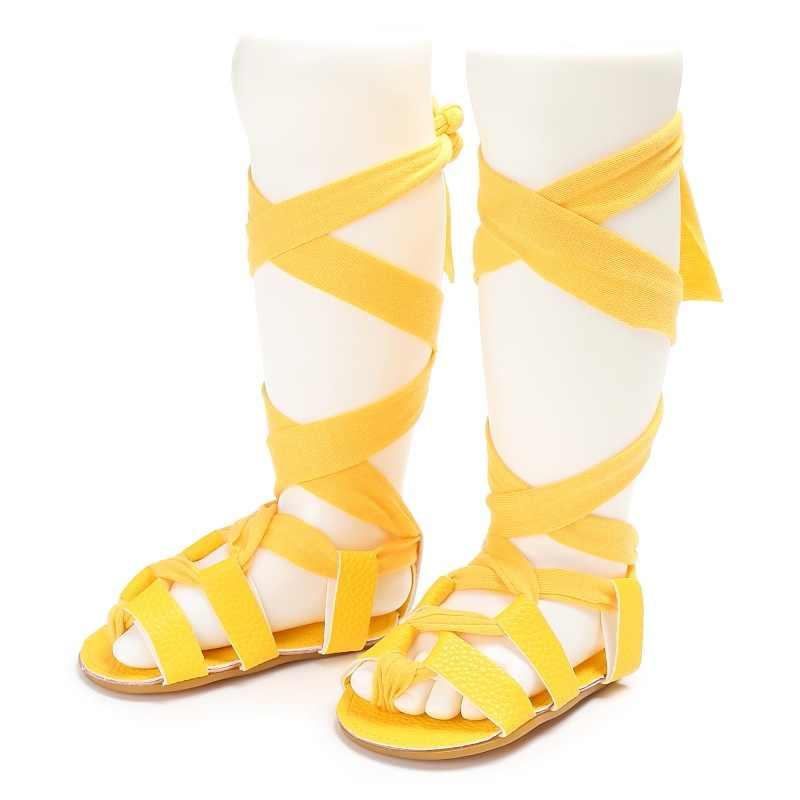 Mùa Hè Da bò Cao Cấp-Thời trang hàng đầu La Mã Dép bé gái trẻ em Võ sĩ giác đấu giày sandal tập đi cho bé Giày sandal bé gái chất lượng cao Giày
