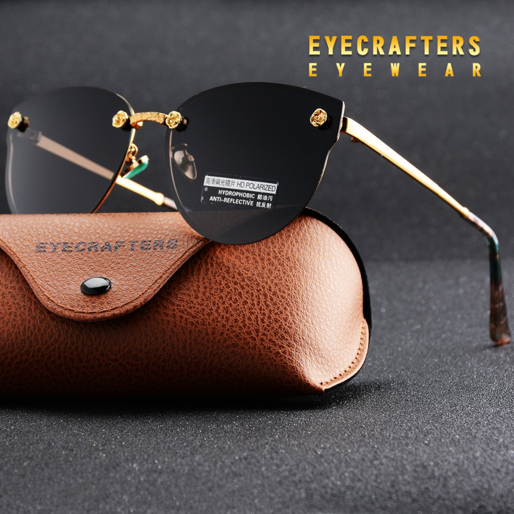 Black New Women Polarized Sunglasses Brand Designer Ladies R