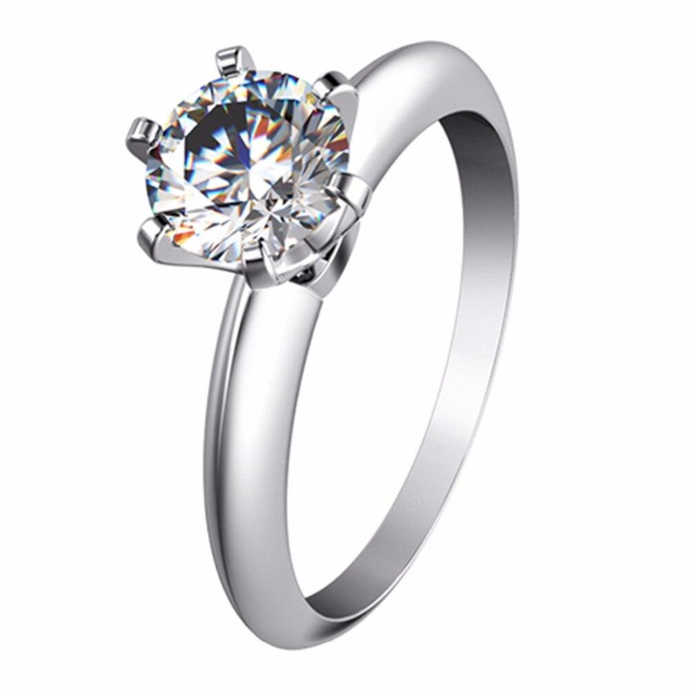 Threeman Usa Brand Verified 2ct Genuine Moissanite Engagement Ring For  Women 18k White Gold Diamond Moissanite
