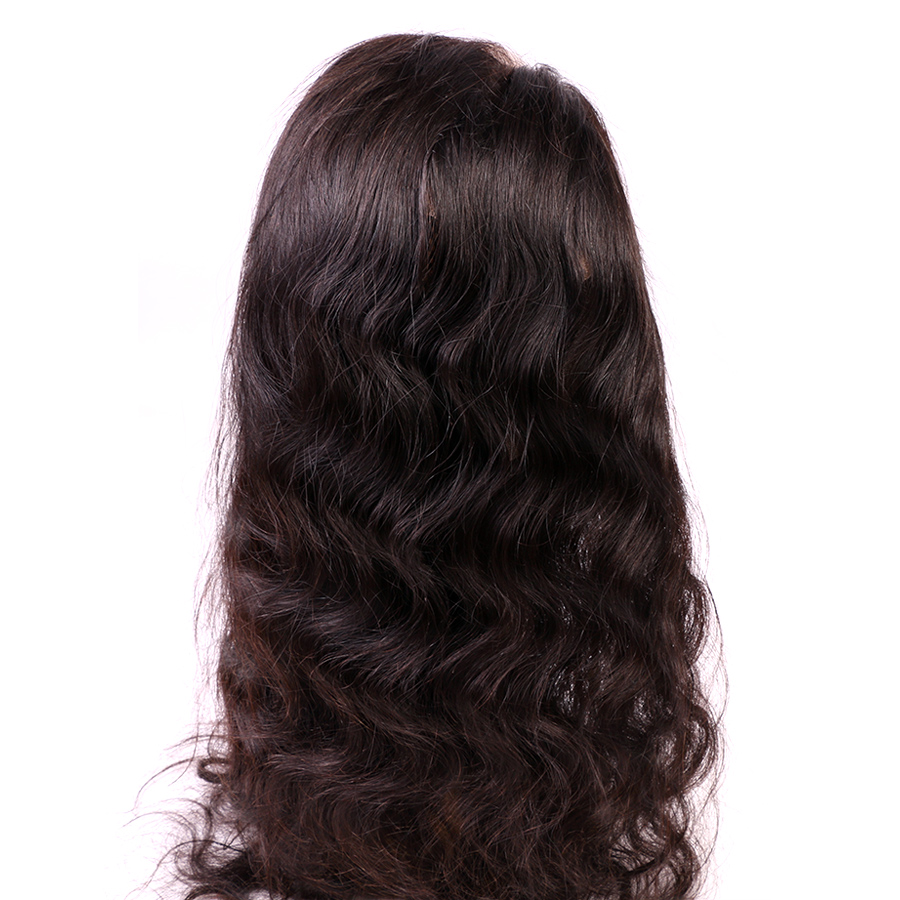 Alidoremi Brazilian Body Wave 360 Lace Frontal with Baby Hair Natural Color Non-Remy Human Hair Free Shipping
