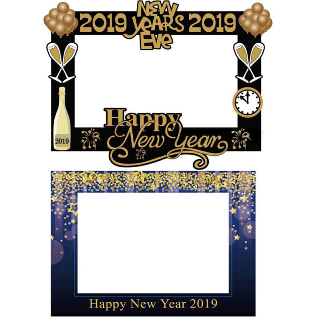 Happy New Years Eve 2019 Photo Frame Props New Year Photobooth Props