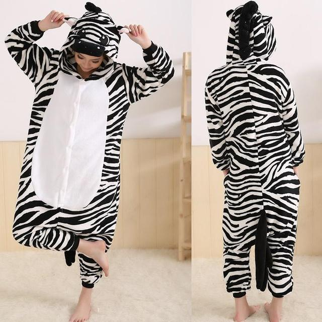 39ae9af27df Lovely Animal Costume Pajamas Onesies Zebra For Adult Men And Women One  Piece Onesie Pajamas Sleepwear Jumpsuit