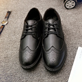 Spring and Autumn New style men's Bullock carved Baroque s Oxford shoes  Lace up Embossed Leather Leisure Men Shoes size 39-44