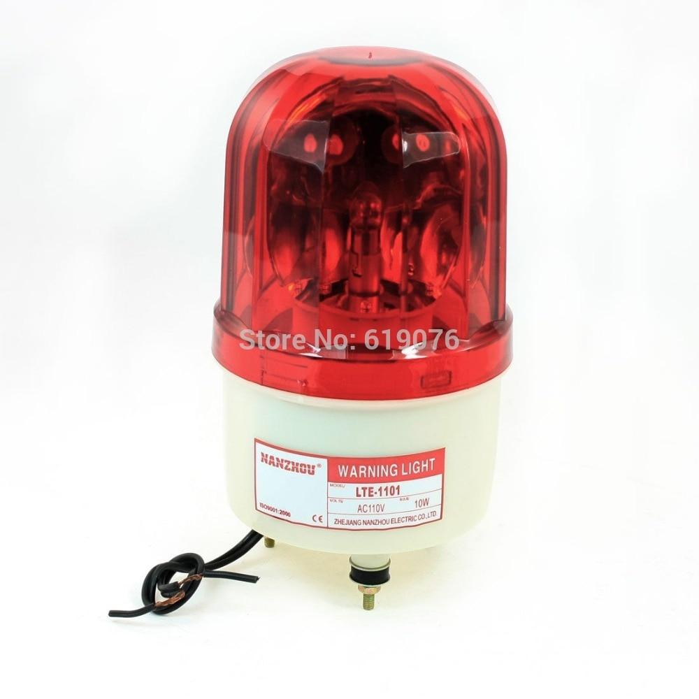 AC110V Red Rotating Flash Light Industrial Signal Warning Lamp LTE-1101