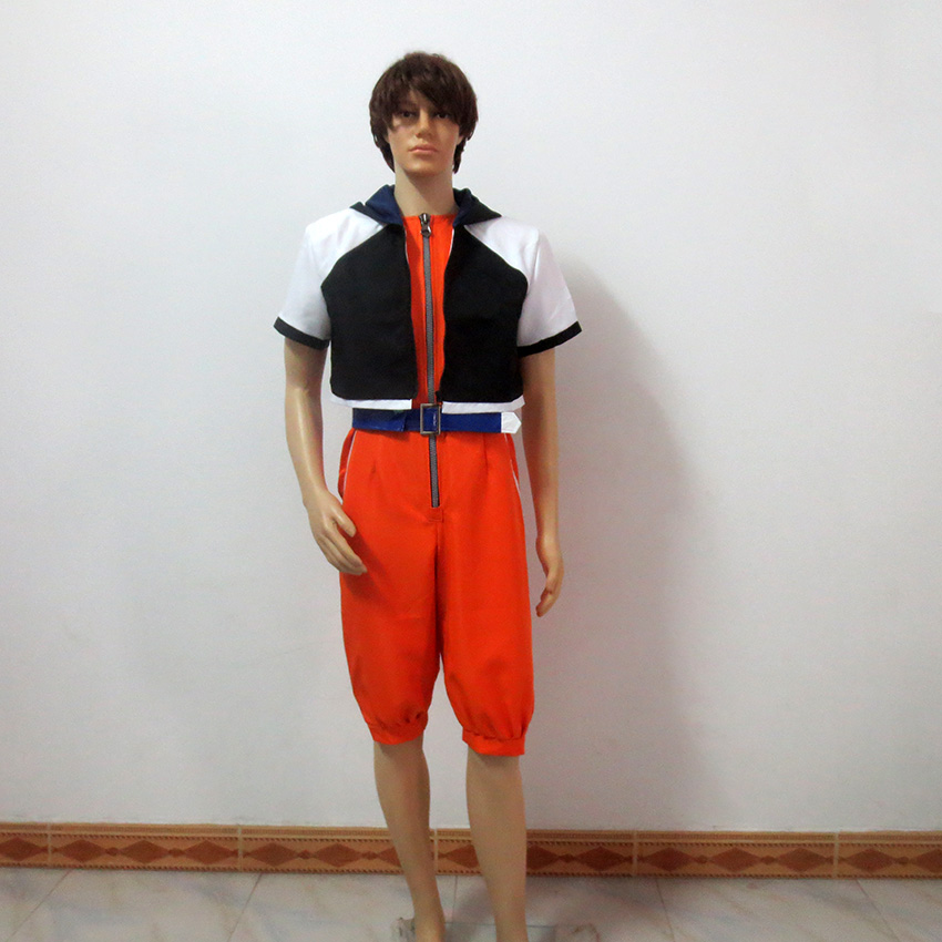 Kingdom Hearts 1 Sora Christmas Party Halloween Uniform Outfit Cosplay Costume Customize Any Size