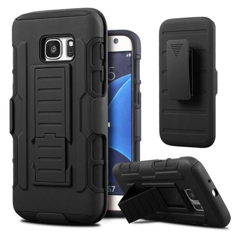 Shockproof Stand Cases for Samsung Galaxy S7 S3 S4 S5 S6 J5 J7 A3 A5 A7 2016 s7 edge s6 edge Armor Case Belt Clip Holster Cover