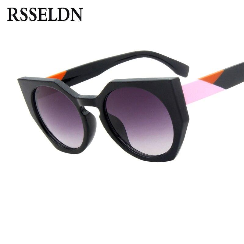 Rsseldn Gafas gafas de sol mujer marca diseñador vintage gradiente ronda Sol Gafas para las mujeres 2018 Fashion Shades oculos UV400