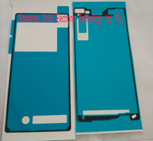 Wholesale 100sets 200pcs New Battery Back Door LCD Frame Bezel Plate Adhesive Sticker For Sony Xperia