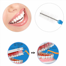 10 шт. межзубная щетка микро Размер 0,7-1,2 мм l-образный уход за полостью рта зубная нить с держателем YUF99
