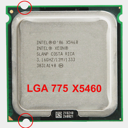 INTEL XEON X5460 CPU INTEL processore X5460 775 quad core 4 core 3.16MHZ LeveL2 12M di Lavoro su 775