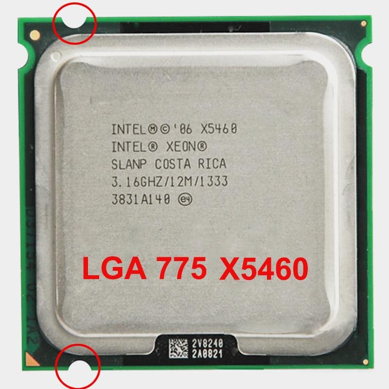INTEL XONE X5460 CPU INTEL X5460 processeur 775 quad core 4 3.16MHZ LeveL2 12M sur 775 avec 2 pièces adaperts
