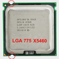 INTEL XONE X5460 CPU INTEL X5460 prozessor 775 quad core 4 core 3,16 MHZ LeveL2 12M Arbeit auf 775 mit 2 stücke adaperts