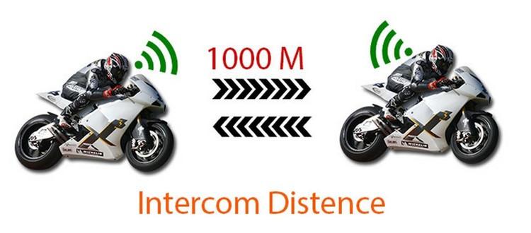 Bluetooth Motorcycle Helmet Intercom Support NFC BT Moto Interphone  Hand-free Headsets Intercomunicador with FM Radio for Skiing (13)