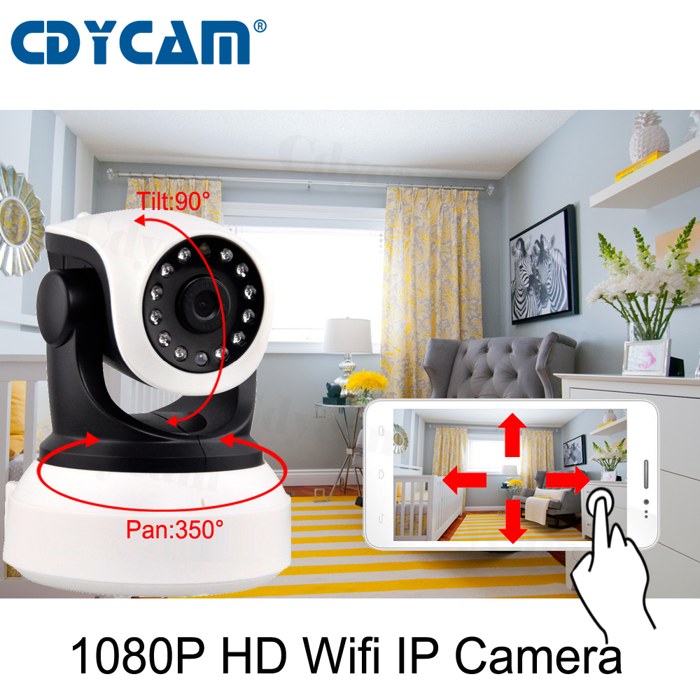 Buy CDYCAM C24S HD 1080P Wifi IP Camera Eye4 App cctv 2MP Wifi camera Support 128GB card Wireless Night Vision HD P2P Onvif IR