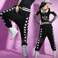 2014 New fashion Adult Harem Hip Hop joggers loose Sexy cutout Sweatpants Costumes Hollow out side Palm Dance pants