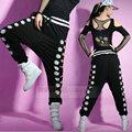 2014 Nova moda Adulto Harem corredores de Hip Hop solta Sexy recorte calças de Dança Sweatpants Costumes Oco para fora do lado da Palma Da Mão