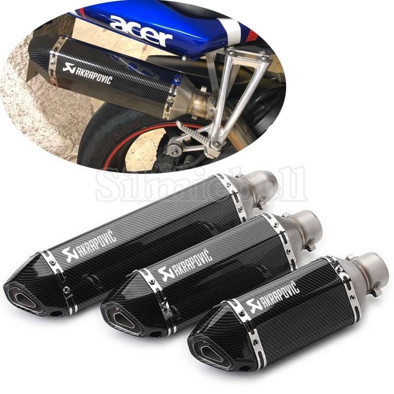 Universal Akrapovic Exhaust Motorcycle Muffler Scooter Exhaust Pipe Escape Moto For KTM Benelli Honda Kawasaki Yamaha Ducati