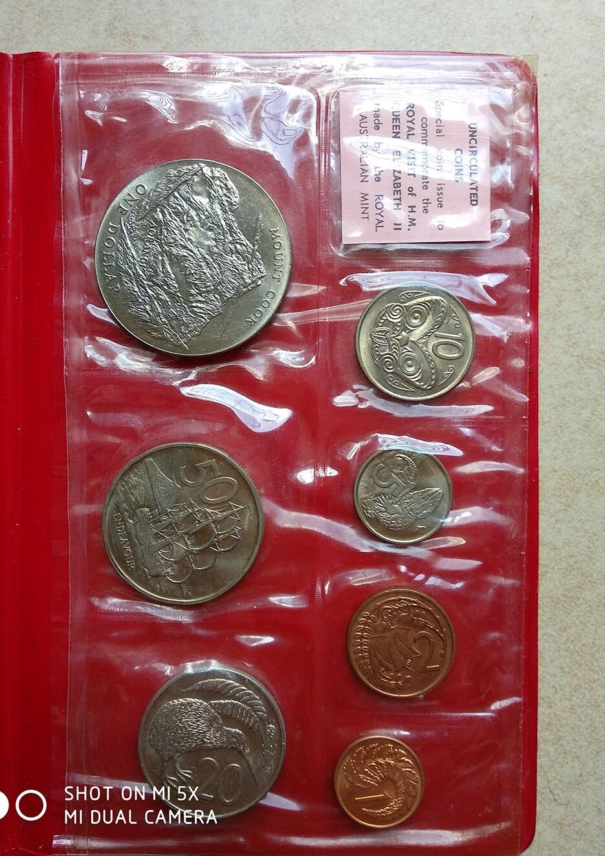 Mint 7pcs Unicorn Conical Gradient Color Makeup Brushes: 1970 Mint Set Of NEW ZEALAND 7 PCS COINS-in Pins & Badges
