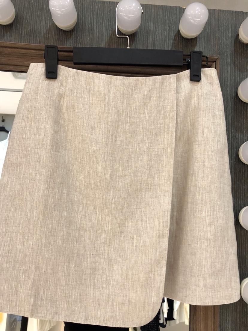 Printemps Kaki Jupe 2019 En 0314 Et De Nouvelles Costume Lin Femmes D'été qOTPOd