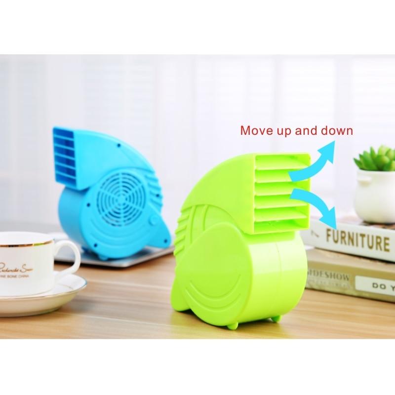 Portable Mini ABS Ventilator Cooling Desktop PC Dual Bladeless Air - Huishoudapparaten - Foto 3