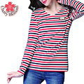 Donnalla Women's Shirts 2017 Tops Tees Striped Long Sleeve T-shirt Poleras Woman T Shirt Women Female T-Shirt Camiseta Feminin