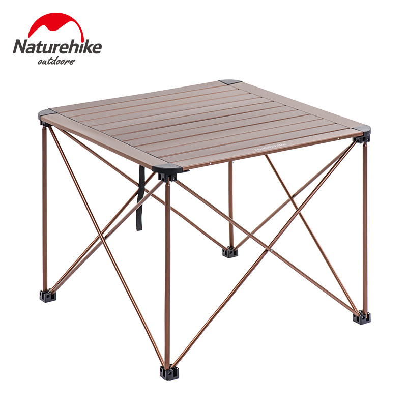 Brand NatureHike Factory Outdoor Travel Camping Wild Dining Picnic portable table Thicken Folding aluminium alloy Tea Table desk ultralight aluminium alloy camping mats