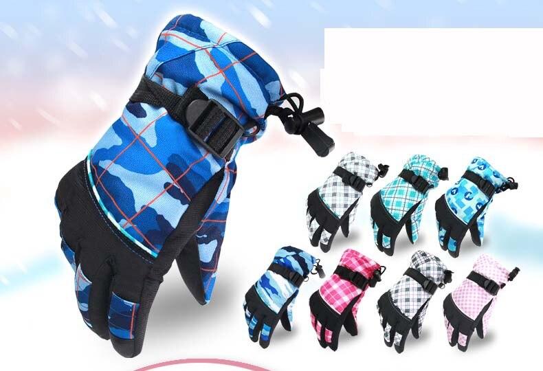 GLV864 guantes de esquí Al Aire Libre caliente de LANA de los niños al por mayor