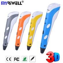 купить Myriwell 1st Generation Best DIY 3D Printer Pen Diy Arts and Crafts Caneta 3d Drawing Painting Pens 3d Kalem ABS PLA Filament по цене 1088.99 рублей