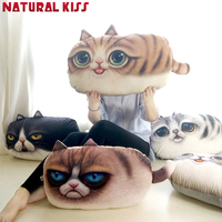 Creative 3D Cartoon Pillow Decorative Pillow Cat Cushions Cat Nap Pillow Cushion And Washable Waist Pillow