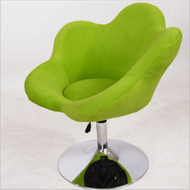 SH32 Factory Direct Supply Flowers Small Soft And Comfortable Computer Chair  Leisure Swivel Bar Chairs
