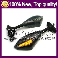 2X Carbon Turn Signal Mirrors For KAWASAKI NINJA ZX-9R 02-03 ZX 9 R ZX 9R 2002-2003 ZX9R 02 03 2002 2003 Rearview Side Mirror