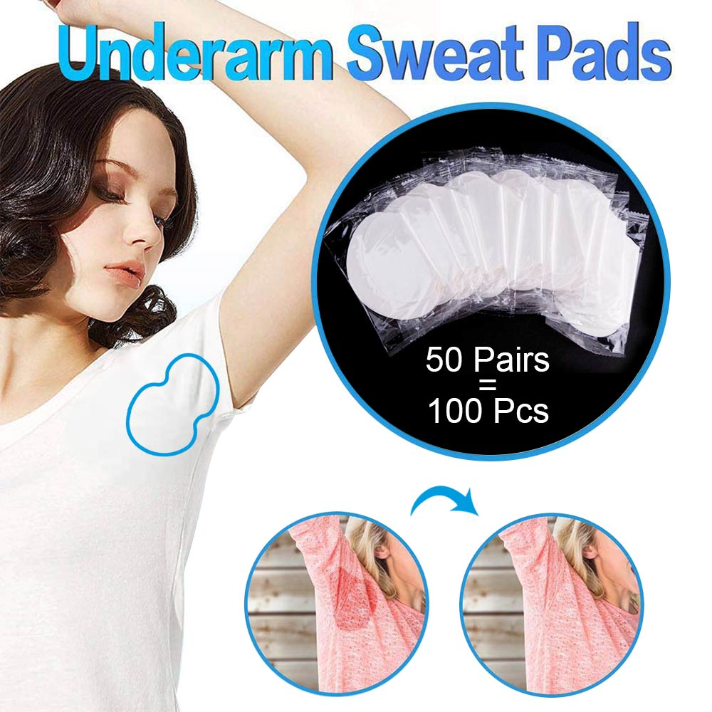 100/200/300/400pcs Underarm Sweat Pads Armpit Stickers Anti Sweat Pads Summer Antitranspirant Absorbs Deodorant For Women