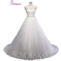 2018 New Arrive Lace Wedding Dress Applique Puffy White Tulle Wedding Gowns Vestido De Noiva Robe De Mariage