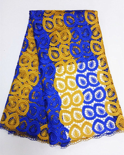J156 Royal Blue And Yellow Gold Free Shipping 5yards Pc Hottest Ing African