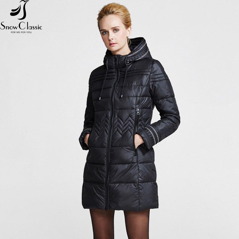 Snowclassic frauen Winterjacke 2016 Weibliche Lange Jacke