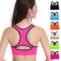 Professional female double shock for fitness  bra  hollow I-shaped steel ring free breathable underwear Bra-003