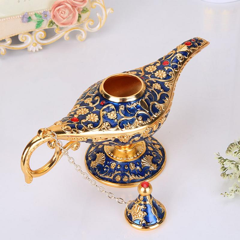 High Quality Aladdin Magic Lamp Fairy Tale Magic Lamps Tea Pot Genie Lamp Vintage Toys Home Decoration For Children Gifts