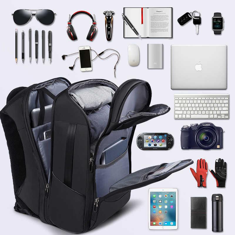 Мужской рюкзак, деловая сумка для ноутбука с usb-портом для зарядки, многослойная дорожная сумка, мужская сумка для переноски, Противоугонный рюкзак