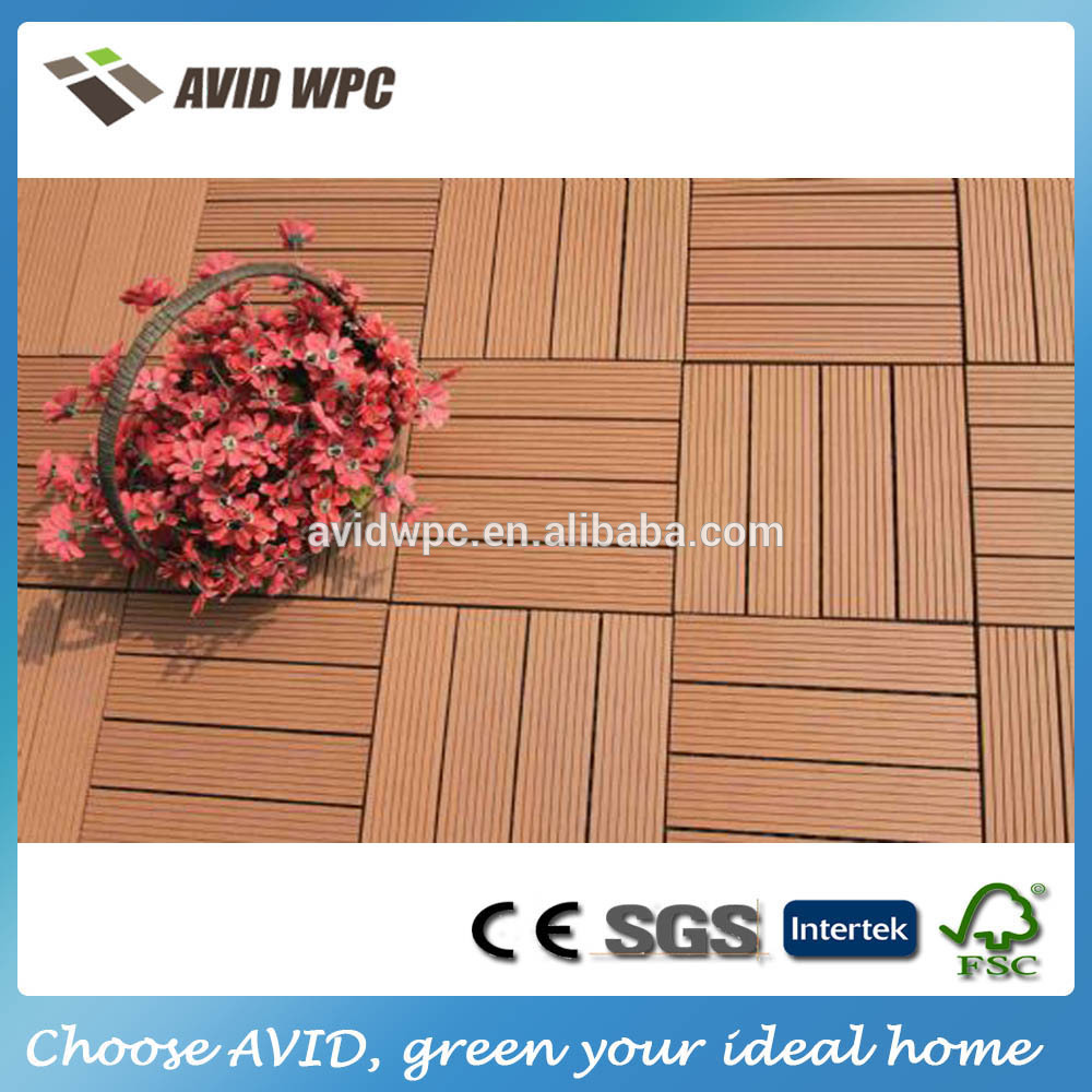 Easy assembly waterproof outdoor wpc decking tiles for for Garden decking for sale