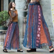 women's trousers female autumn spring Mexico style ethnic designer boho long pri