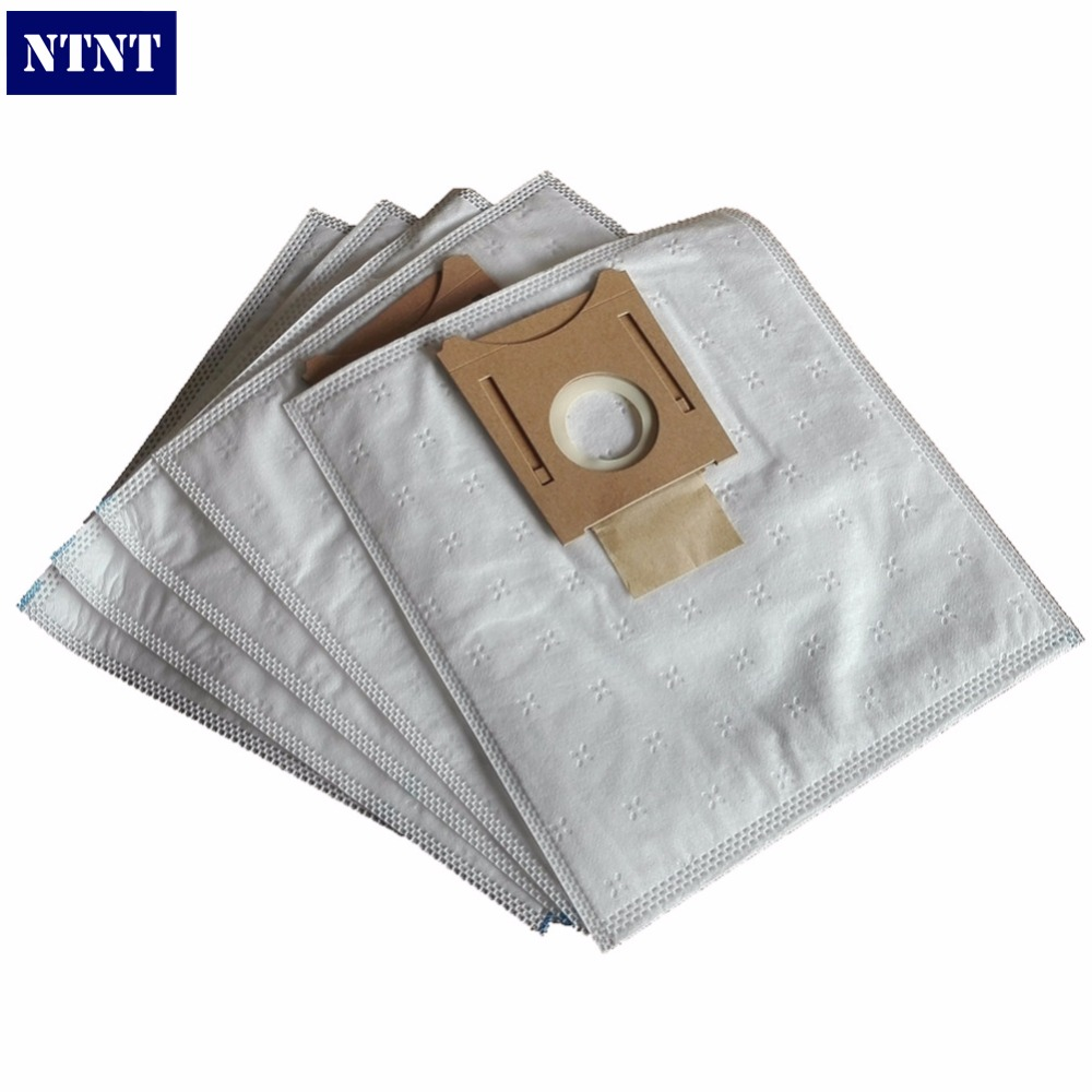NTNT 5x Vacuum Cleaner Type E F XL Dust Bags Microfiber HEPA Bag and 2x HEPA Filter replacement for Bosch Type G BS55 GL30 10x dust bags and 2x pieces hepa filters replacement for miele s227i s5 white pearl s400 g