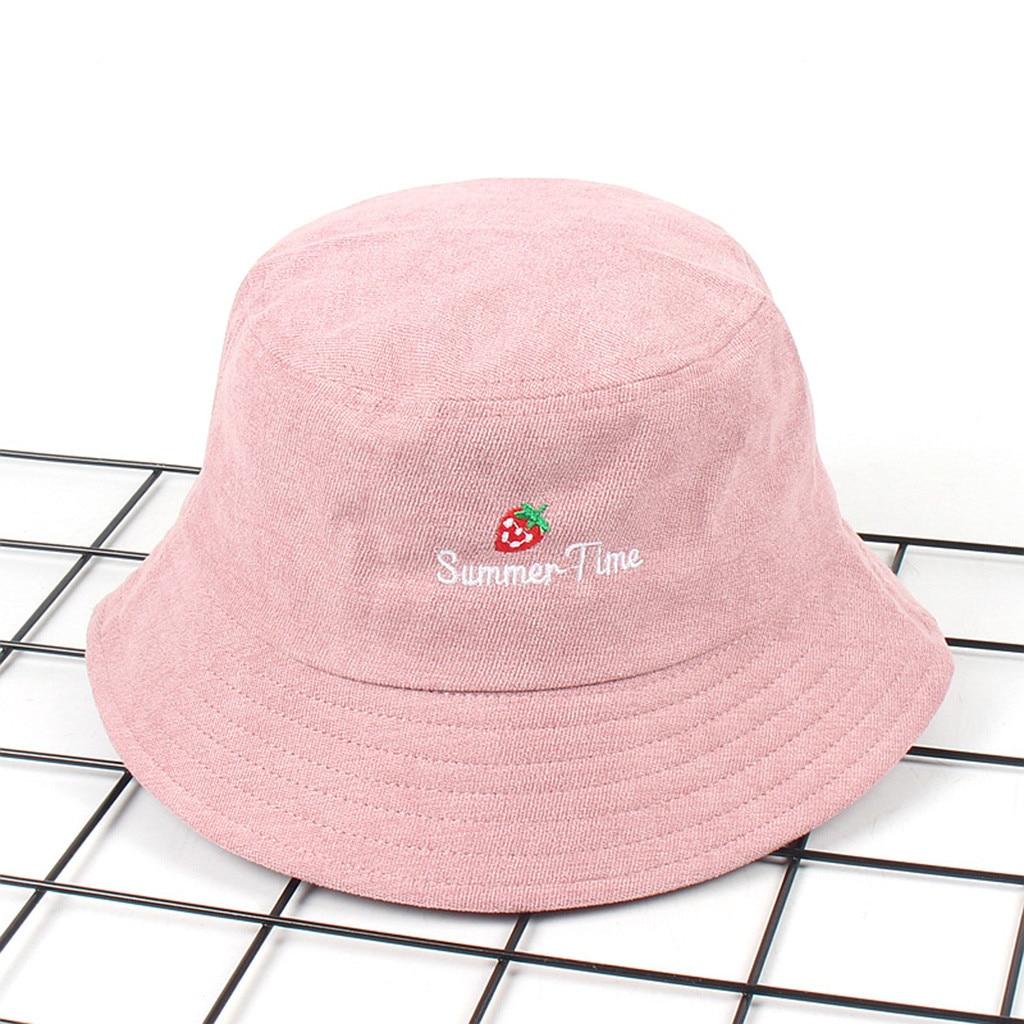 f7b4b3ae New Arrival Adult Women Men Strawberry Corduroy Fisherman Hat Sunscreen  Outdoors Cap Sun Helmet Cap Fisherman Hat HOT SALE-in Men's Bucket Hats  from Apparel ...