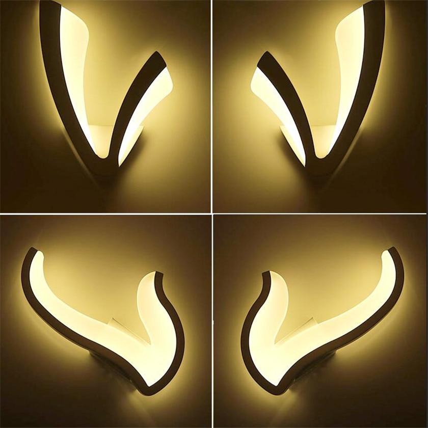 110 220v Acrylic Led Wall lamp  lighting Lustre Luminarias Para Sala led acrylic bedside lamp fixtures For Home Stair Light modern led acrylic wall lamps bedside applique chambre salon lampara de pared 110v 260v luminarias para sala bedside lamp