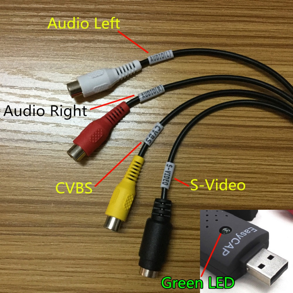 Hot sell USB Video Capture Card Adapter TV DVD VHS Captura de v deo Card Audio AV for Computer/CCTV Camera USB 2.0 EasyCAP DC60 solid carbide c12q sclcr09 180mm hot sale sclcr lathe turning holder boring bar insert for semi finishing