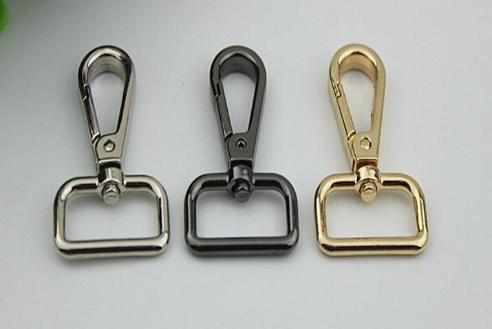 20pcs/lot Man Women Bags Accessories lugguage Bag strap belt Hook Keychain metal big size lobster hook buckle for bag
