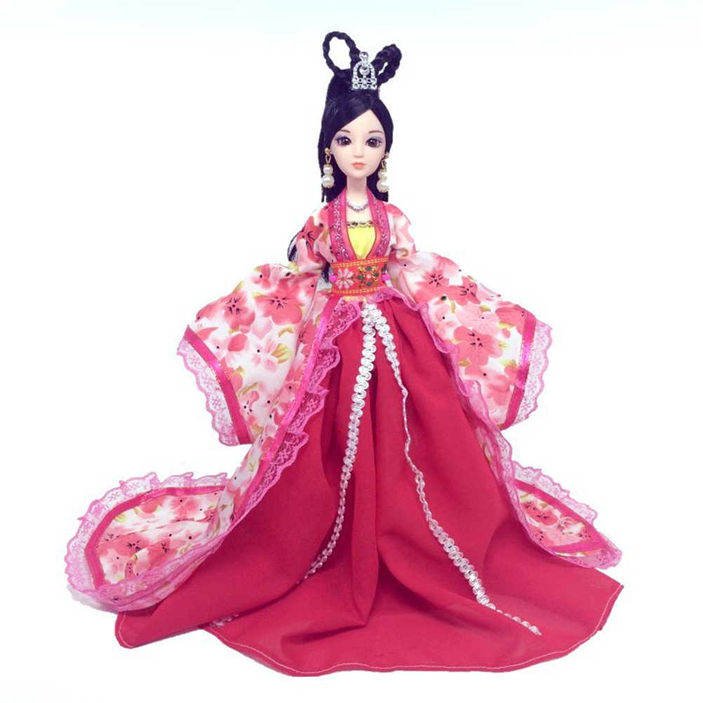 New 1PC Beautiful Handmade Court Dress Clothes For   Doll Different Vintage Style Floral Print Doll Cloth Hot Sell