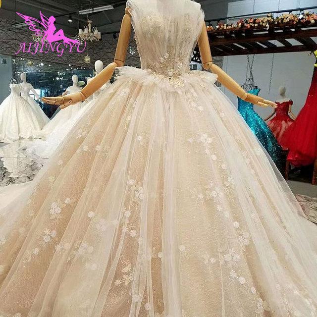 AIJINGYU Plus Size Boho Wedding Dresses Jumpsuit Gown 2019 Pleats ...